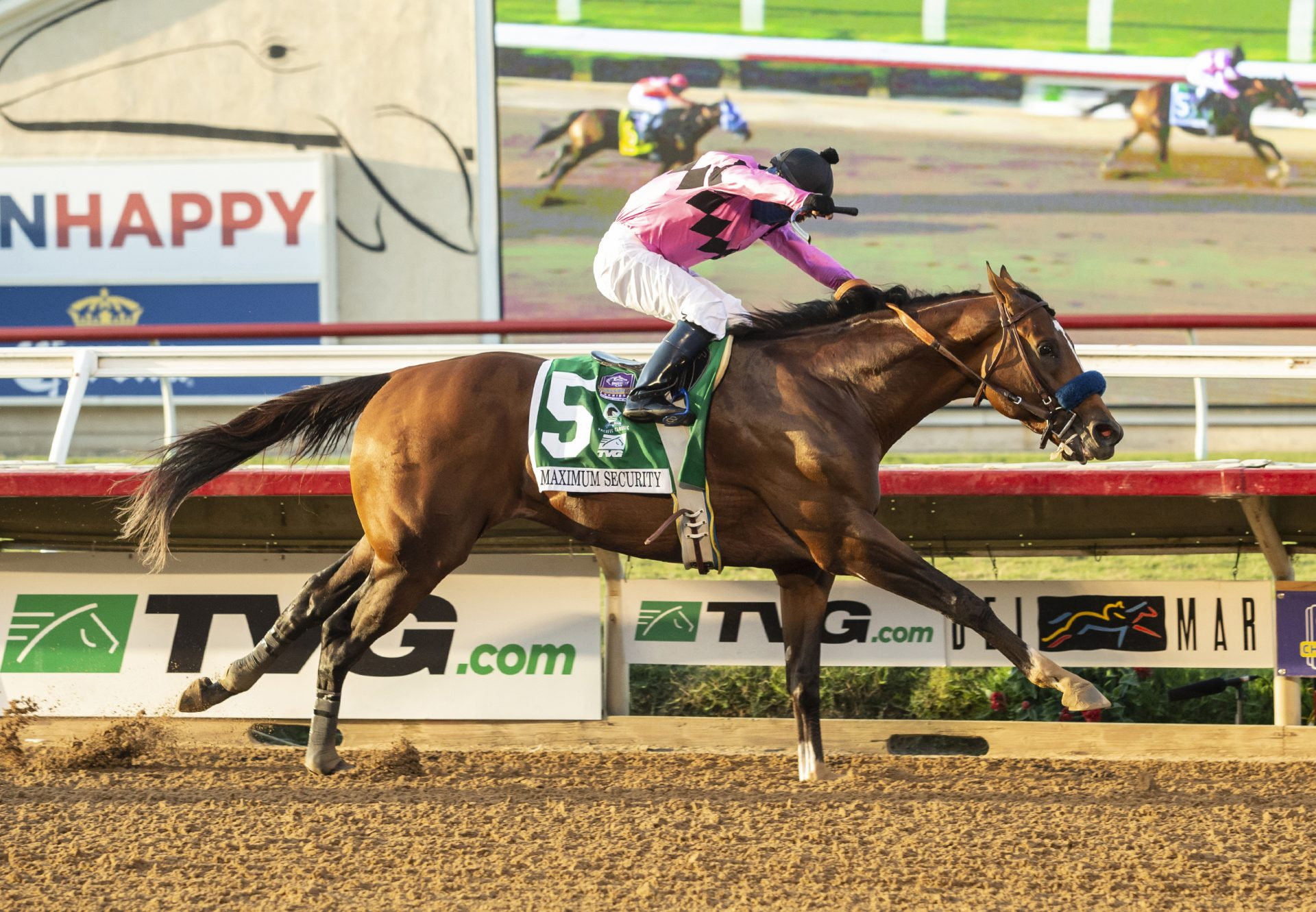 Maximum Security Wins Gr.1 Pacific Classic at Del Mar