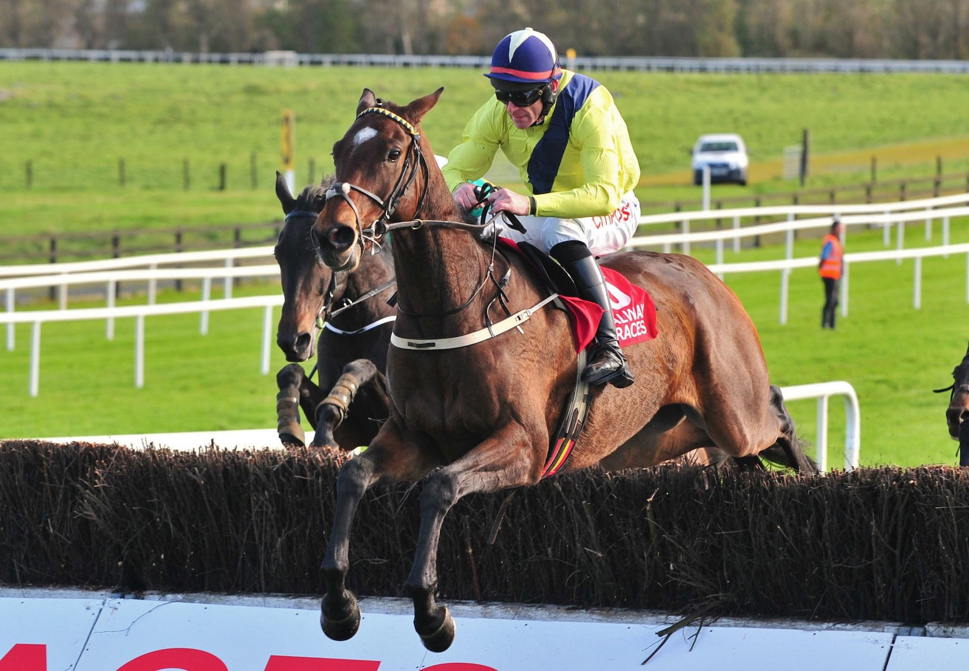 Mount Pelier (Milan) winning over fences at Galway