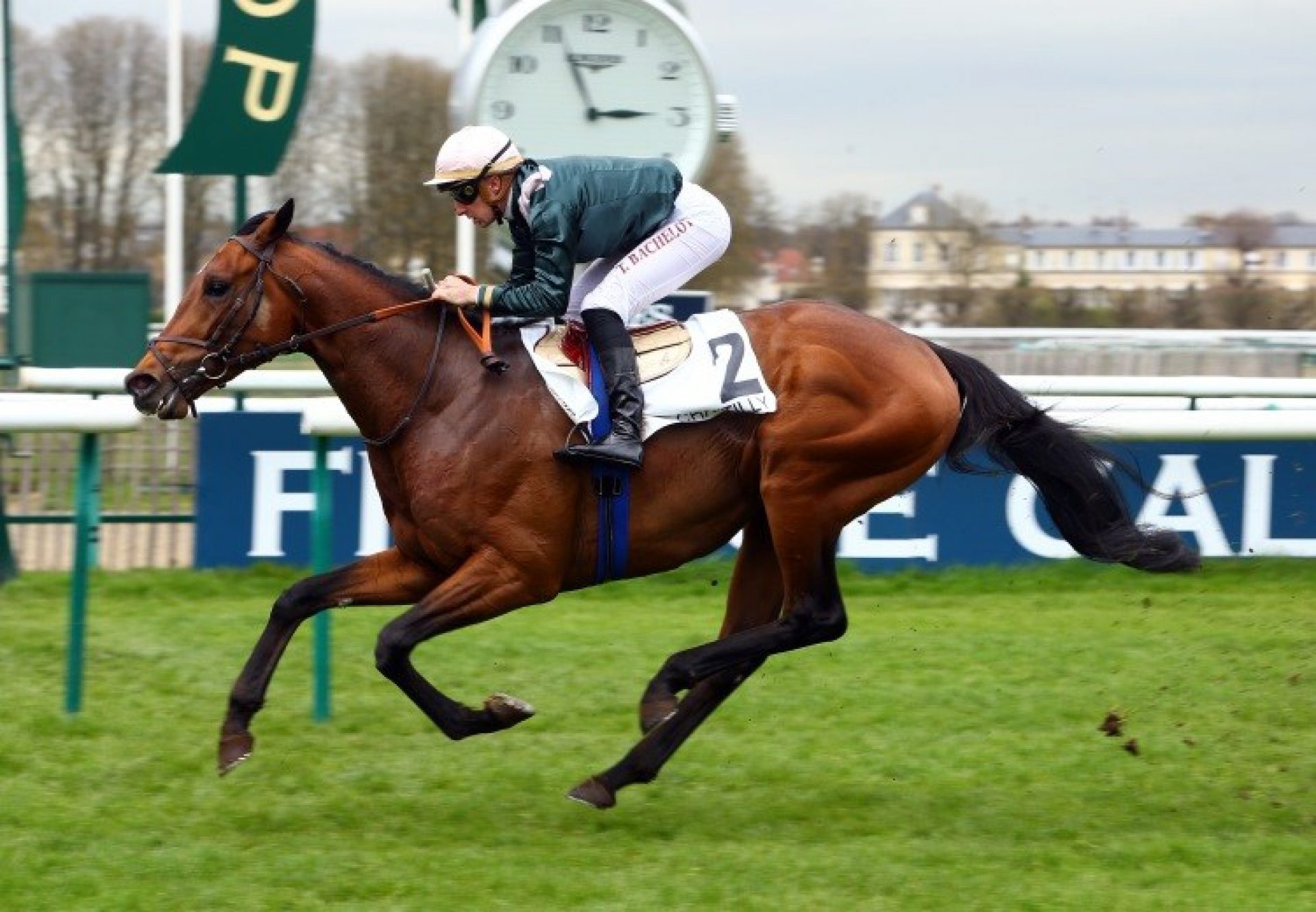 Naturally High (Camelot) winning the Prix du Pont du Roi at Chantilly
