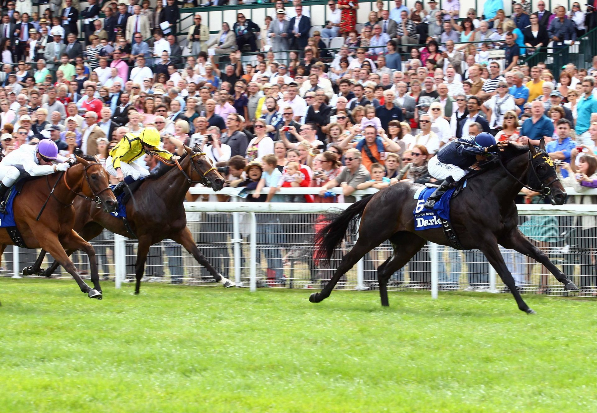 No Nay Never winning the G1 Prix Morny at Deauville