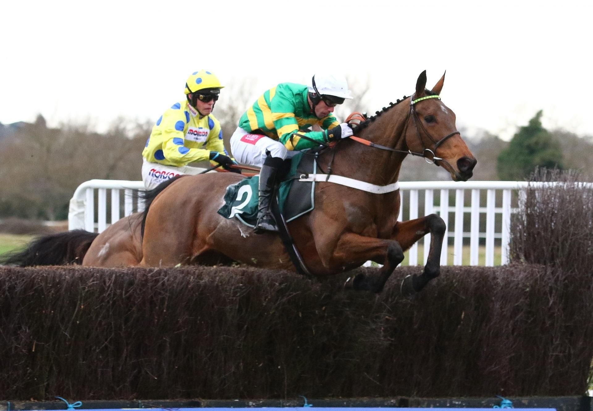 Ok Corral (Mahler) winning the Listed Hampton Novices' Chase at Warwick