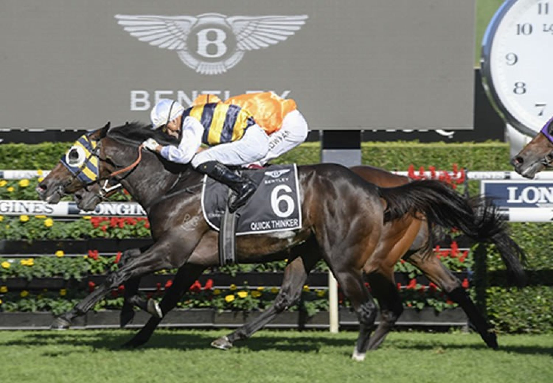 Quick Thinker (So You Think) wins the Gr.1 Australian Derby at Randwick