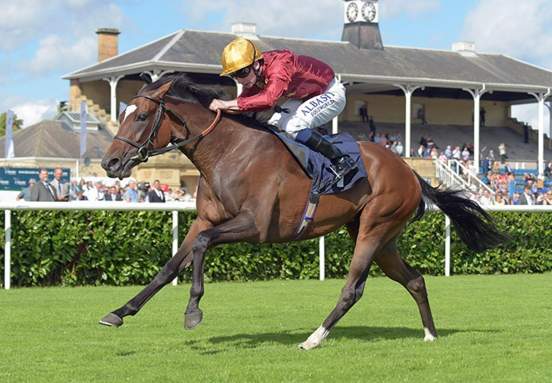 Rich Legacy (Holy Roman Emperor) winning the G2 May Hill Stakes at Doncaster