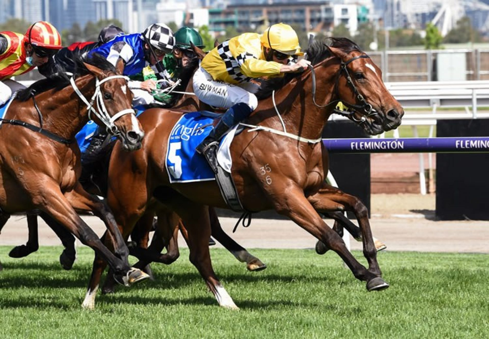 Rocha Clock (Pierro) winning the Inglis Bracelet at Flemington
