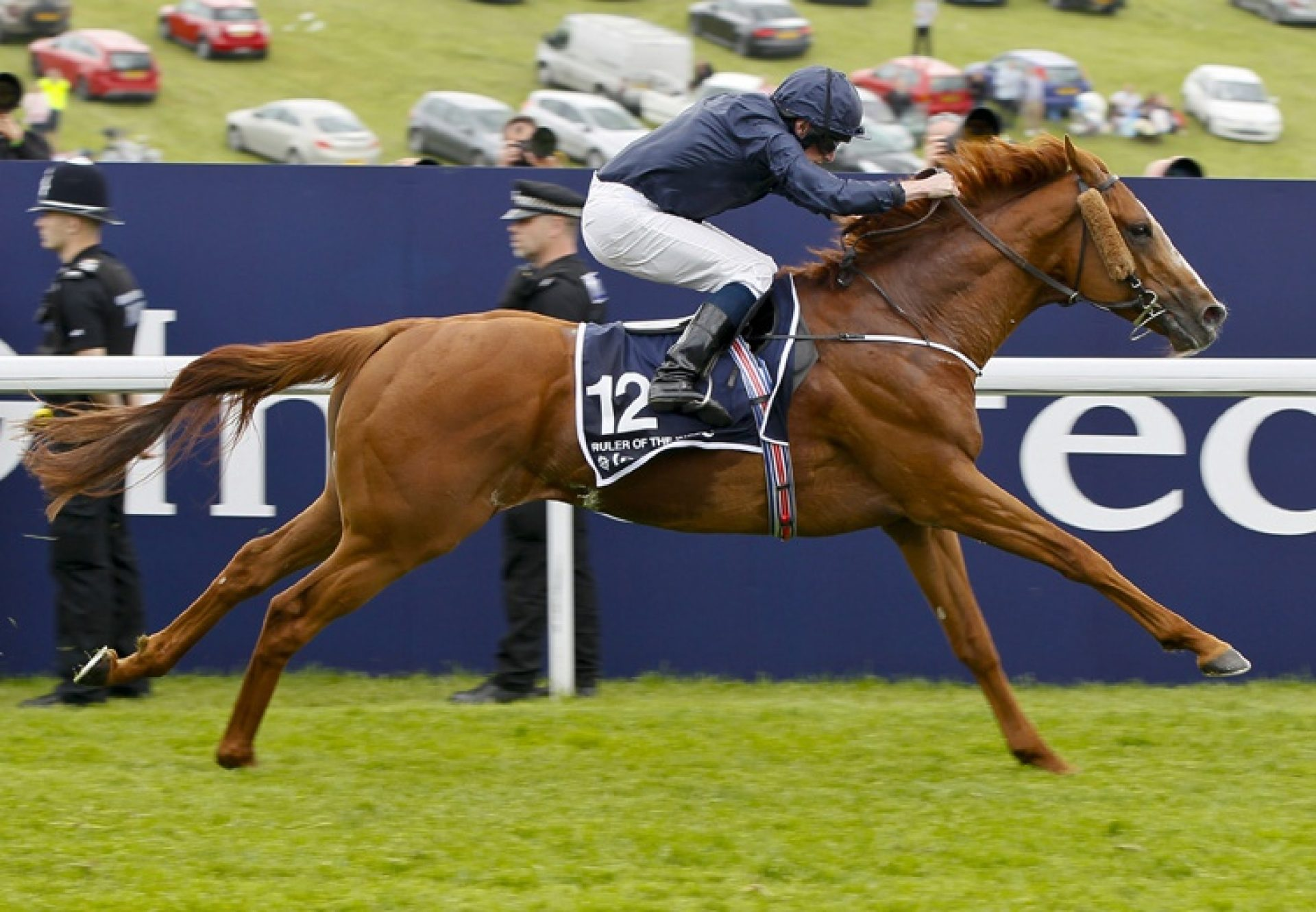 Ruler Of The World winning the Epsom Derby