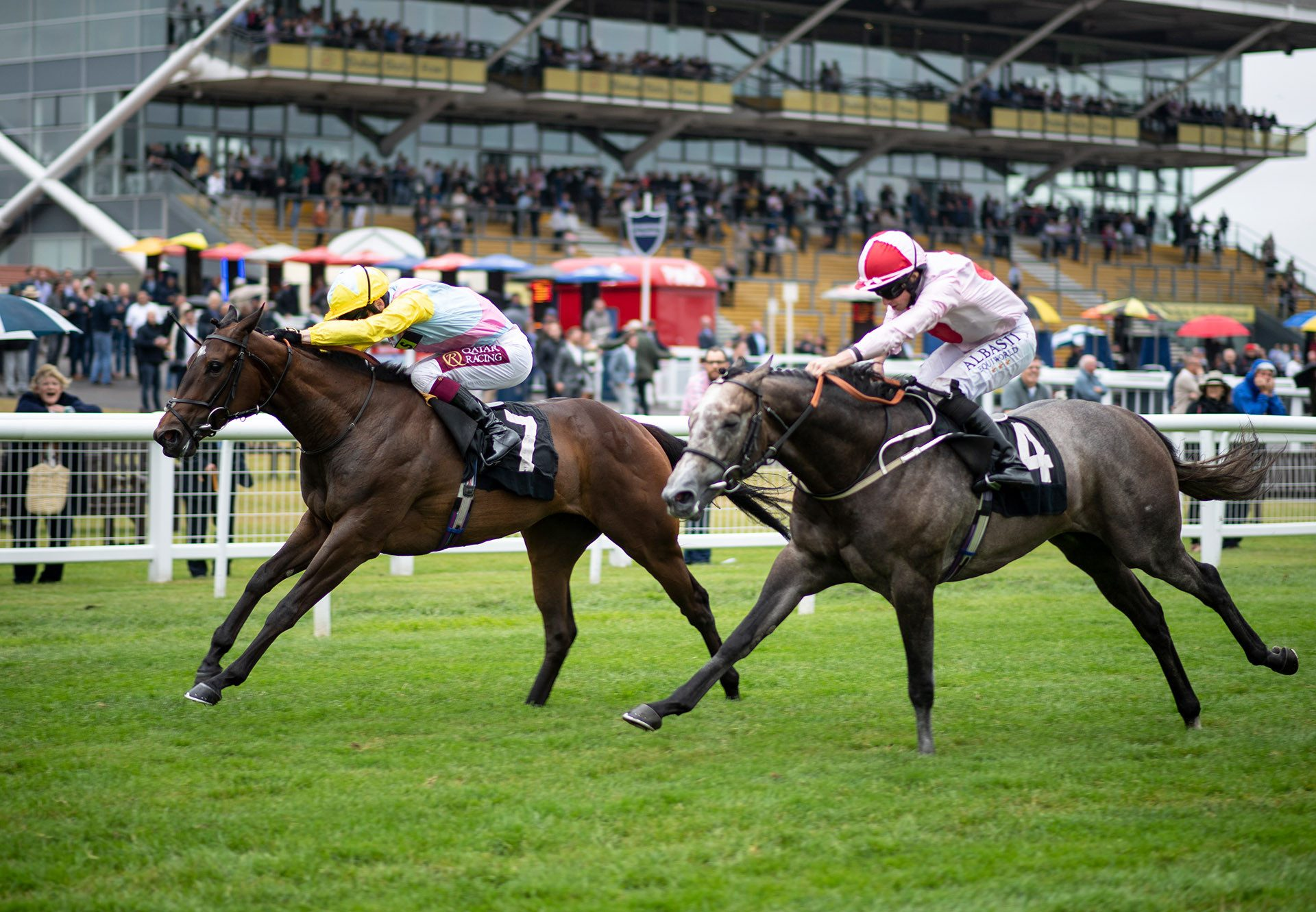 Shadn (No Nay Never) winning the Listed Rose Bowl Stakes at Newbury
