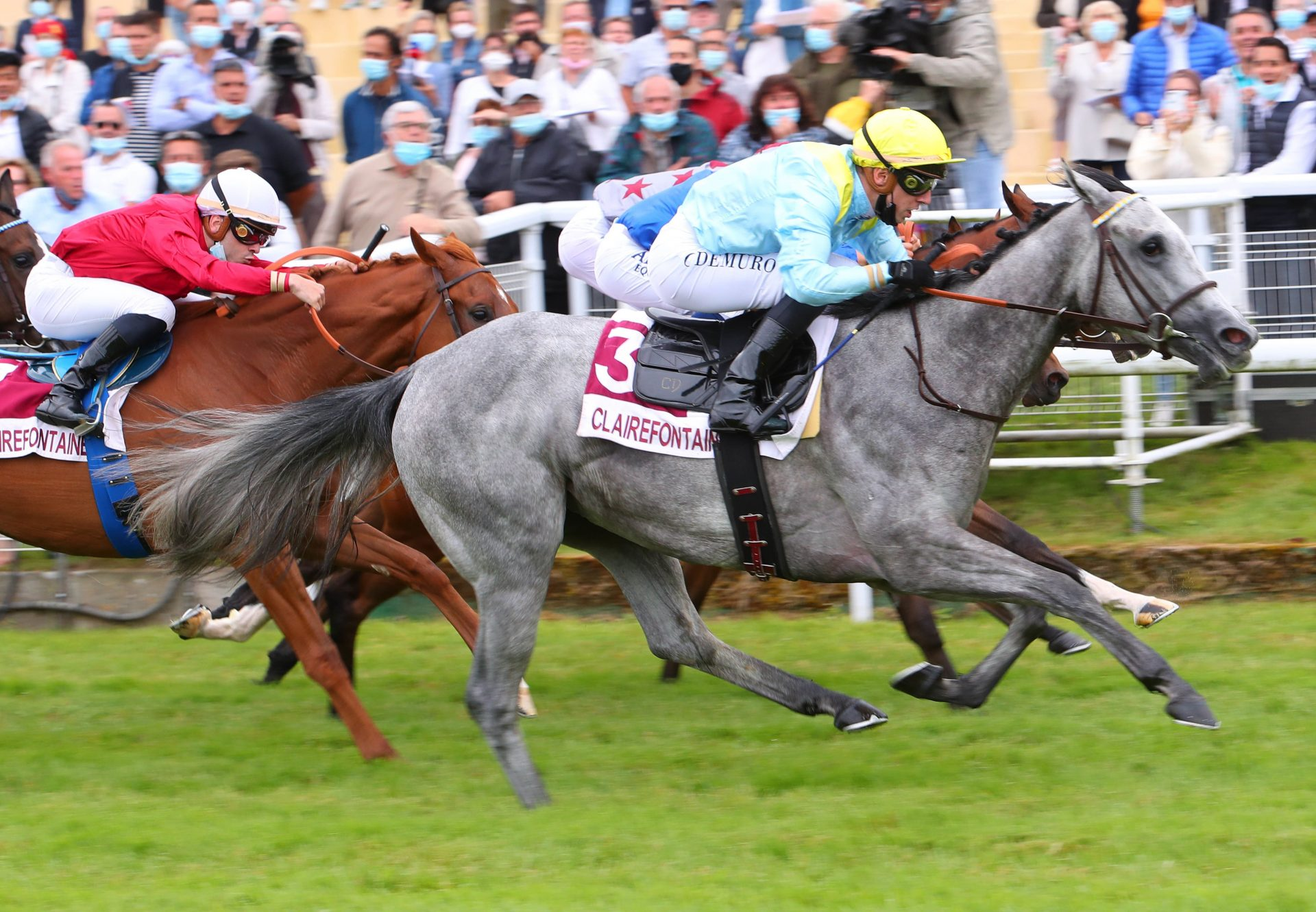 Silver Lining (Caravaggio) Winning At Clairefontaine
