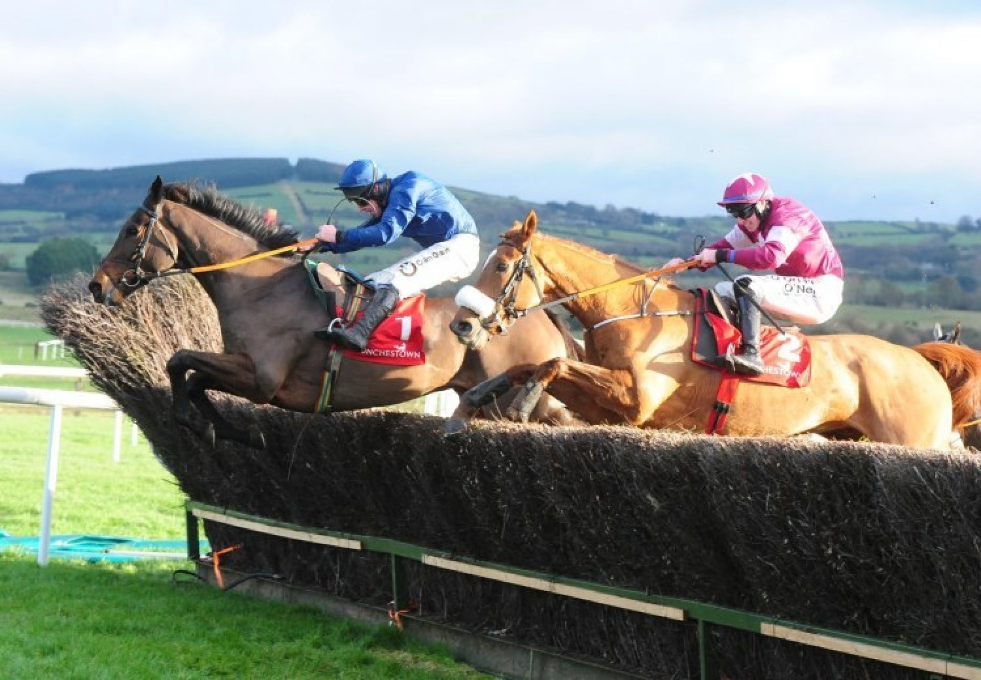 The Wests Awake (Yeats) winning a novice chase at Punchestown