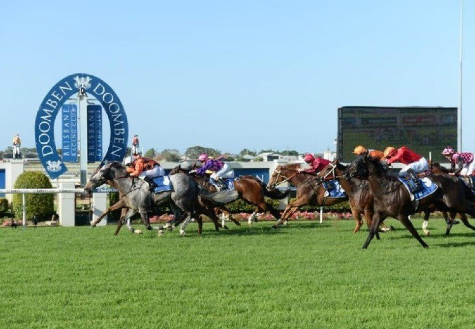 Time To Plunder (Holy Roman Emperor) winning Listed BRC Keith Noud Handicap at Doomben