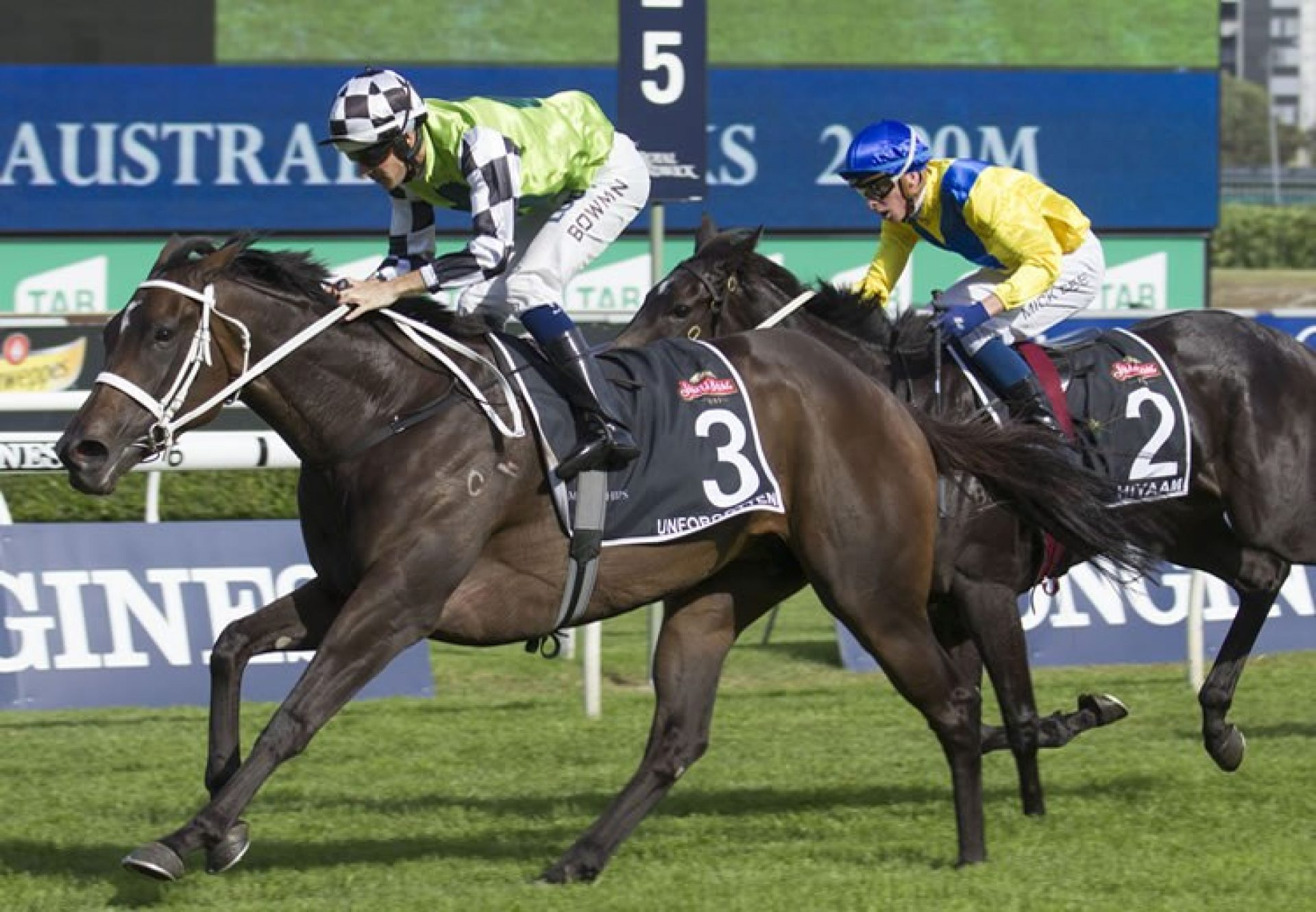 Unforgotten (Fastnet Rock) winning the G1 Australian Oak at Randwick