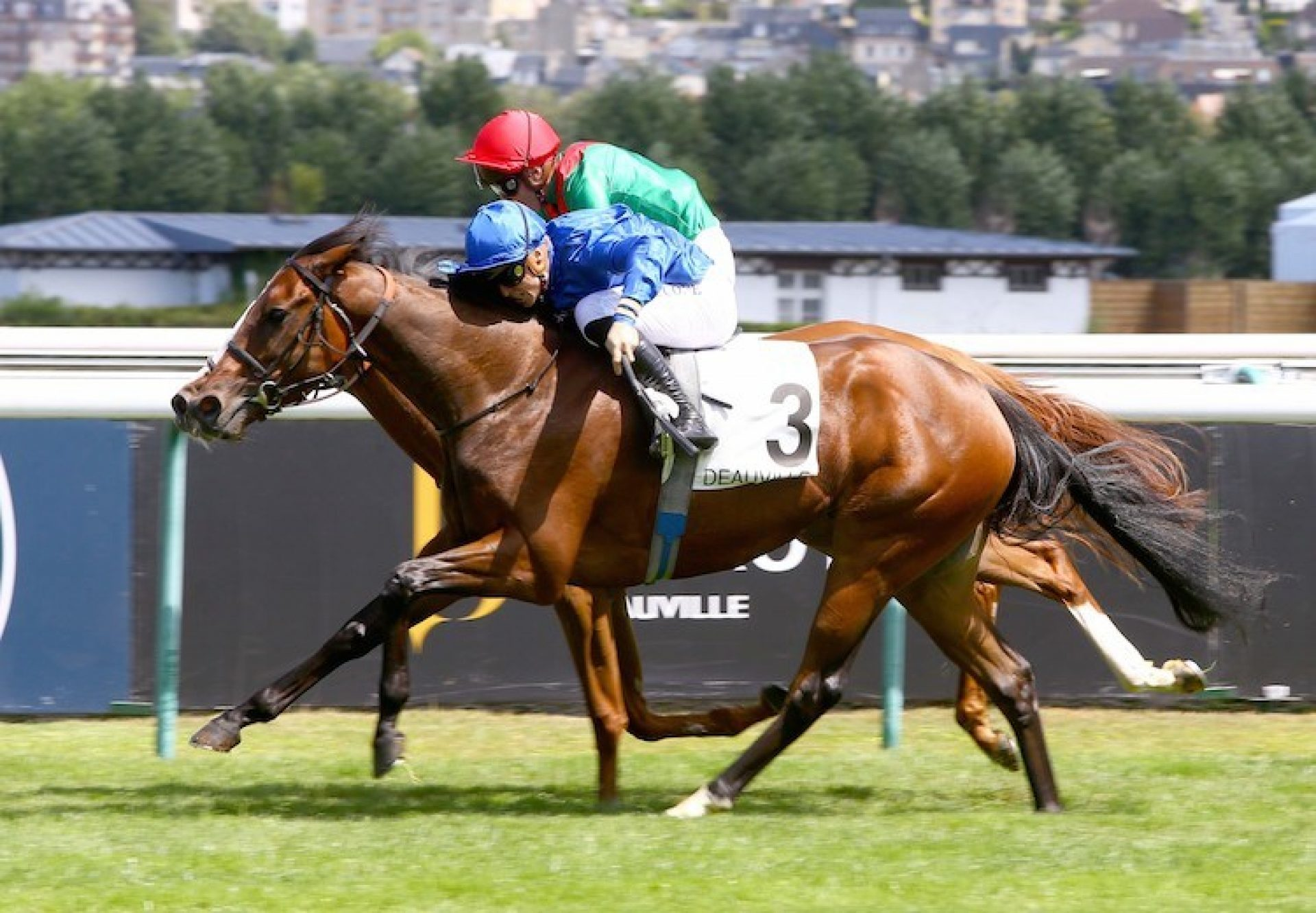 Beyond Reason (Australia) winning the G3 Prix Six Perfections at Deauville