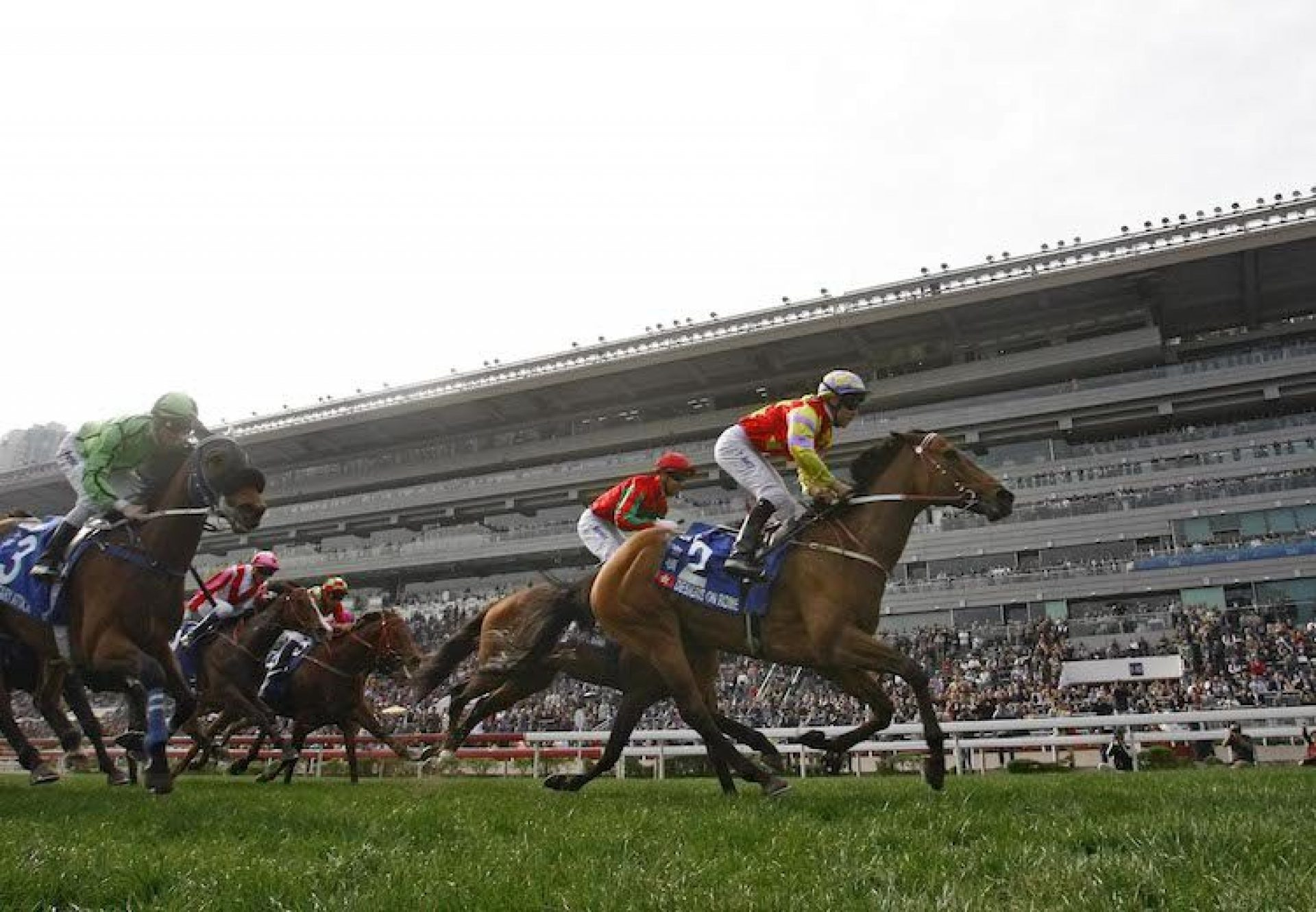 Designs On Rome (Holy Roman Emperor) winning the G1 Citi Hong Kong Gold Cup at Sha Tin
