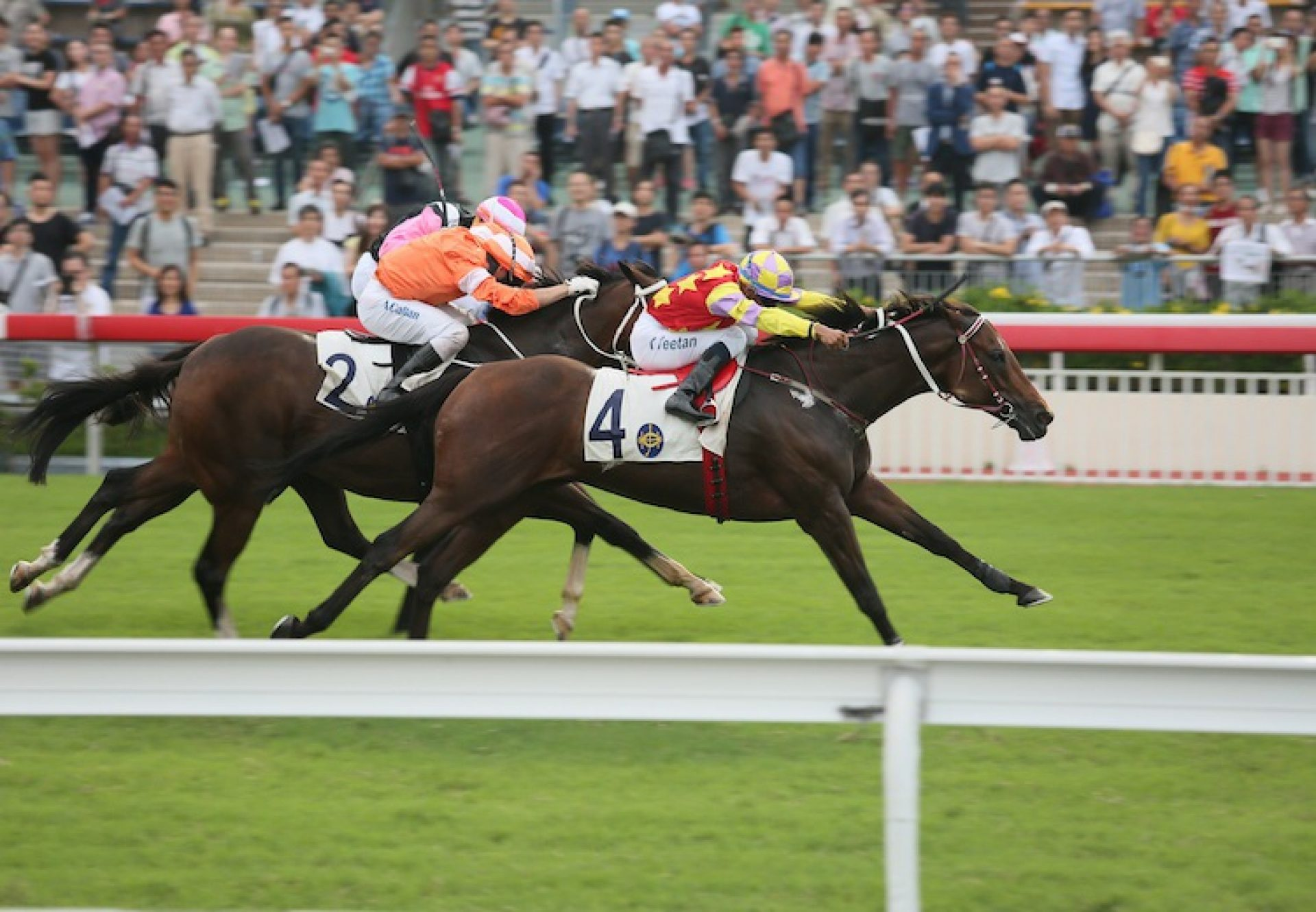 Designs On Rome (Holy Roman Emperor) winning the G2 Sha Tin Trophy at Sha Tin