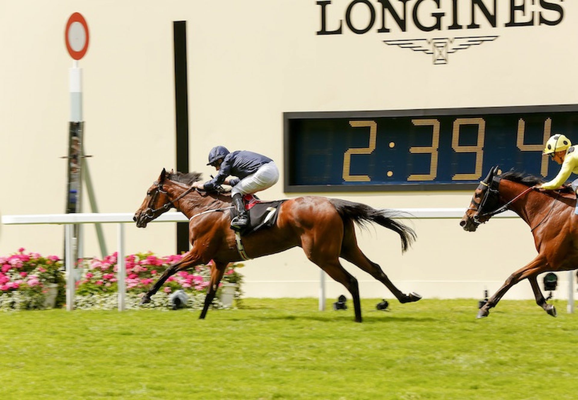 Even Song (Mastercraftsman) winning the G2 Ribblesdale Stakes at Royal Ascot