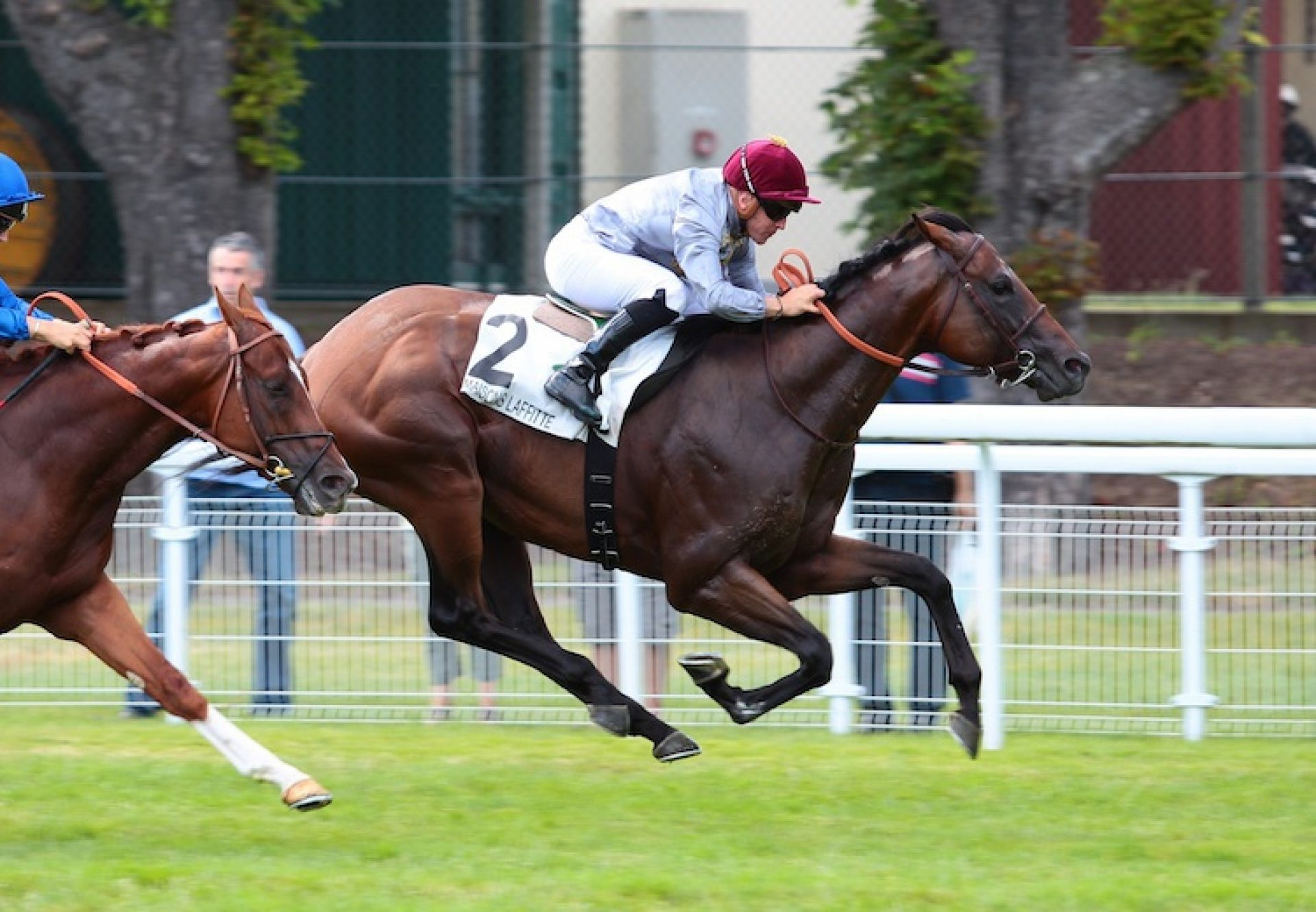 Heshem (Footstepsinthesand) winning the G2 Prix Eugene Adam at Maisons-Laffitte