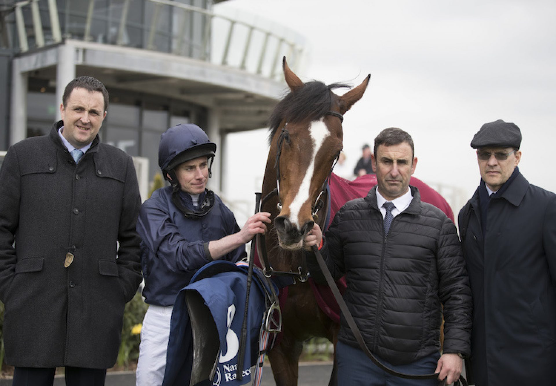 Hunting Horn (Camelot) with connections after winning his maiden at Naas