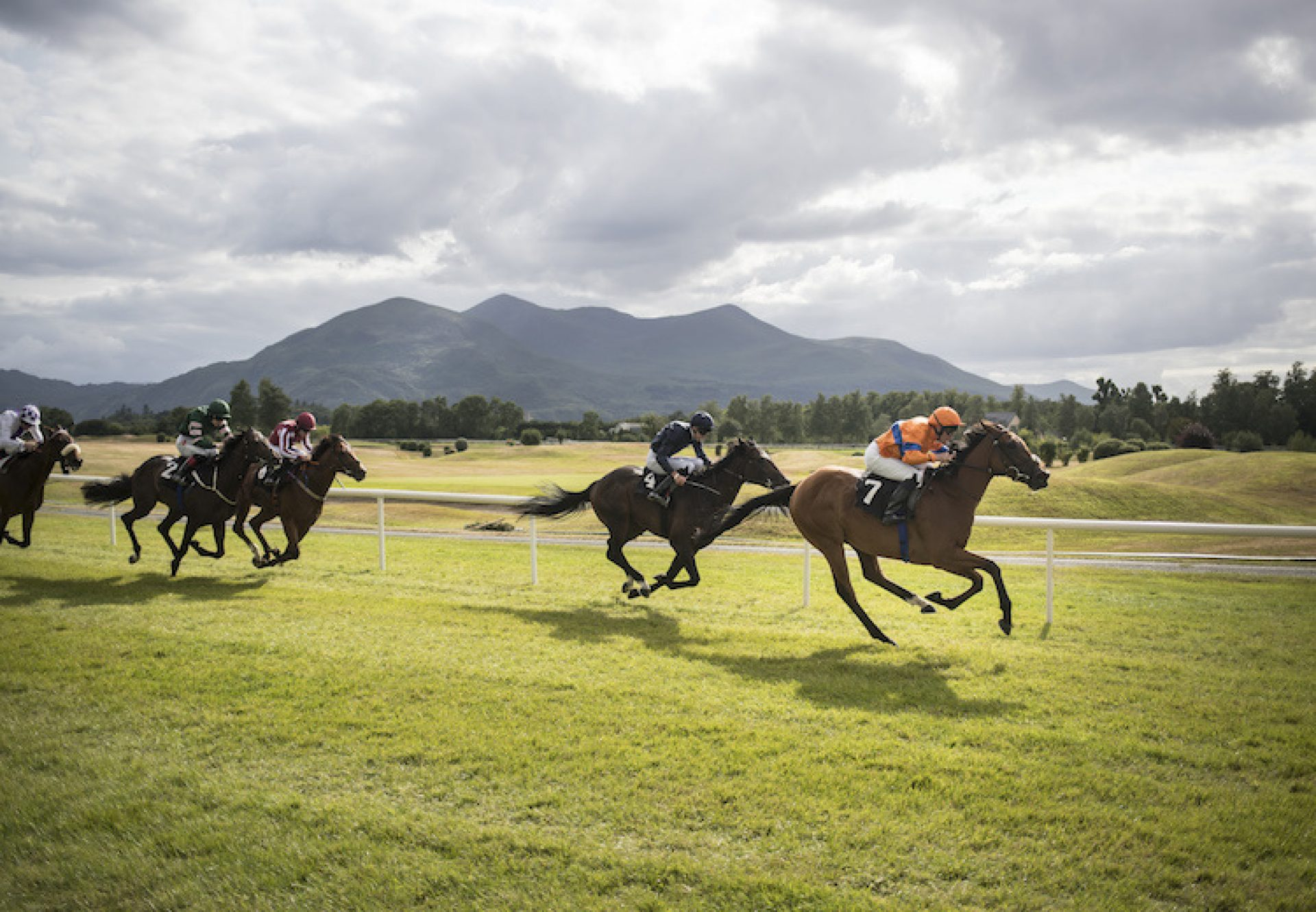 Iridessa (Ruler Of The World) winning a maiden at Killarney
