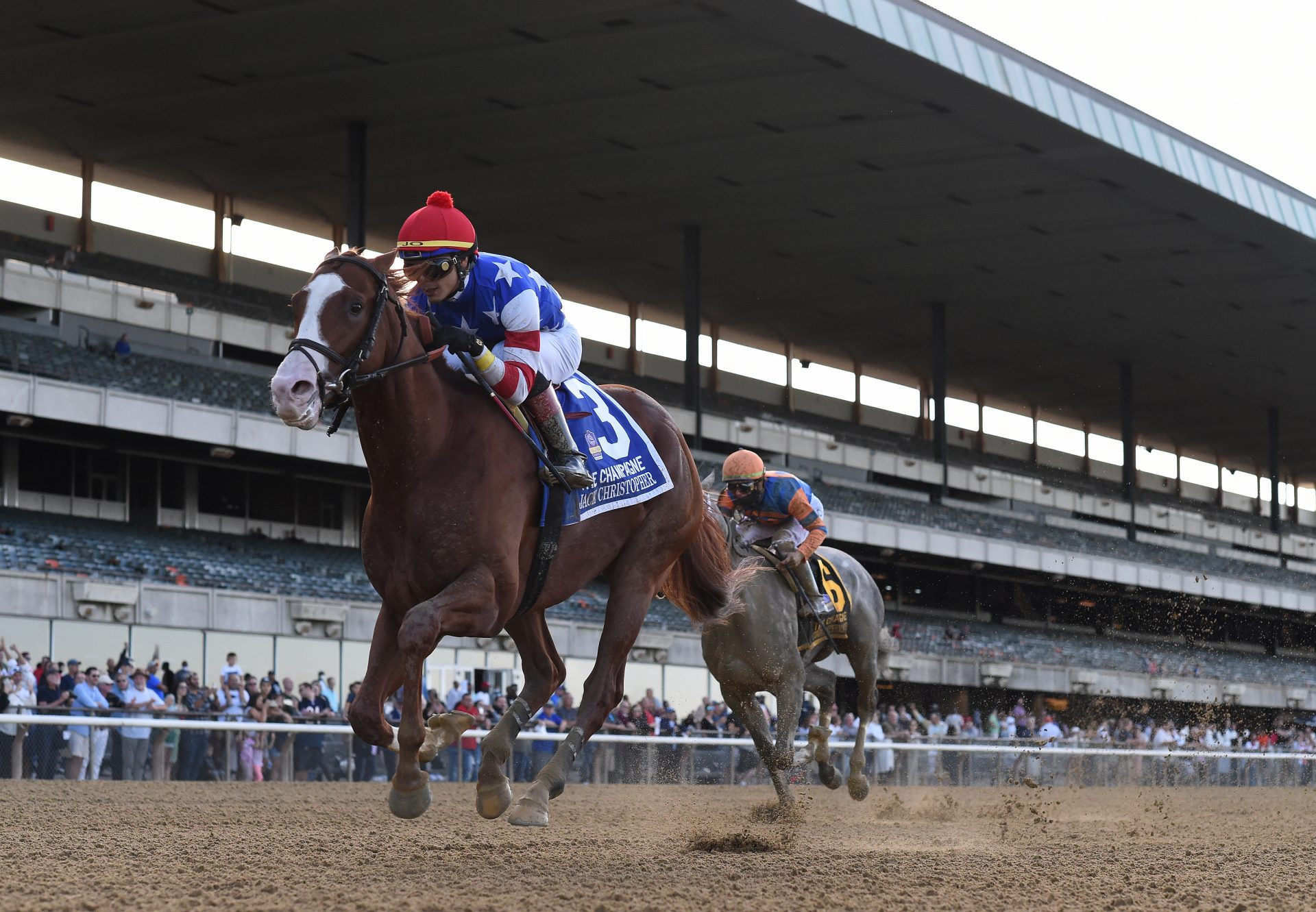 Money Fromheaven (Munnings) winning the Maryland Juvenile Filly Championships
