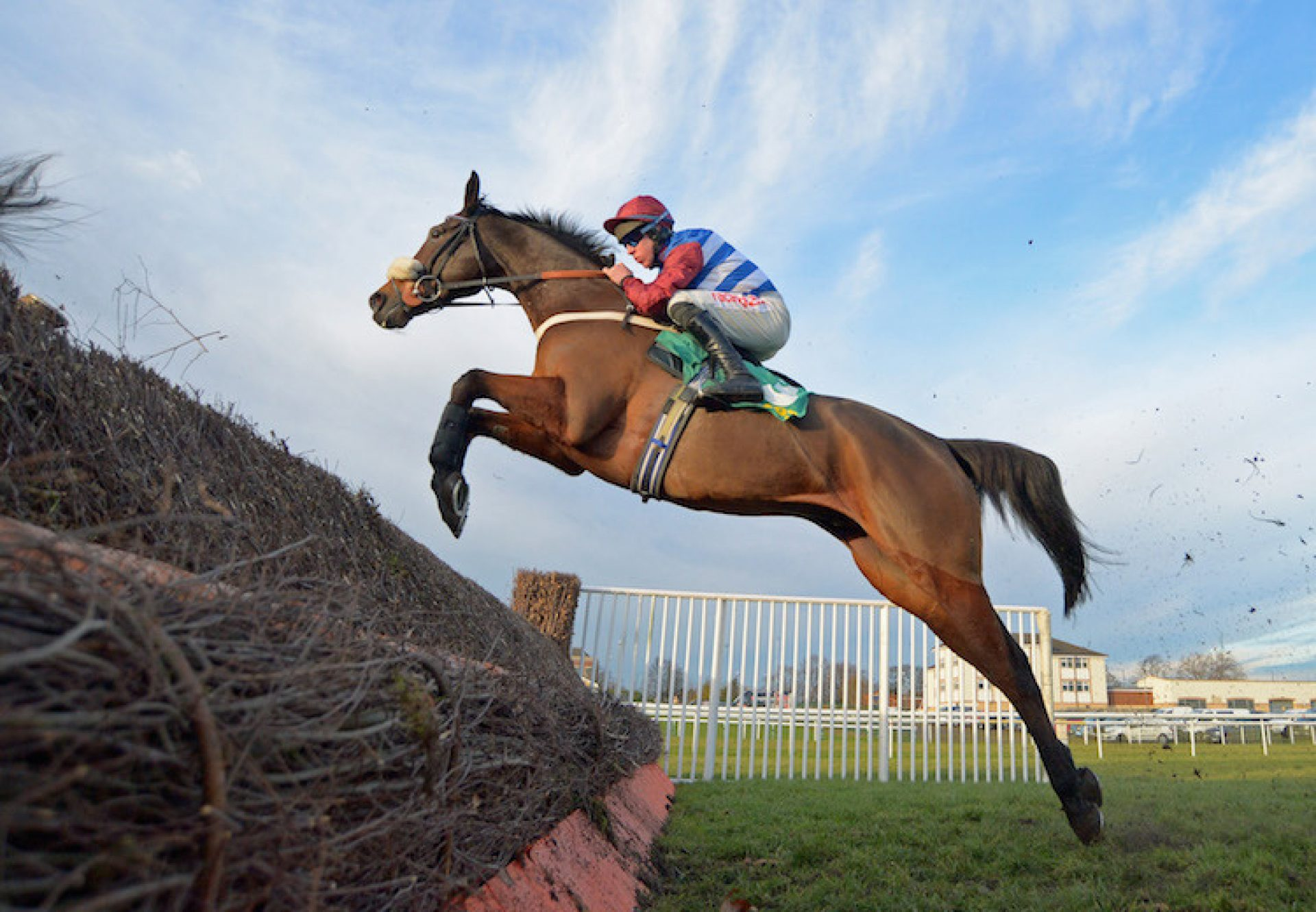 Keeper Hill (Westerner) winning the G2 December Novices' Chase at Doncaster