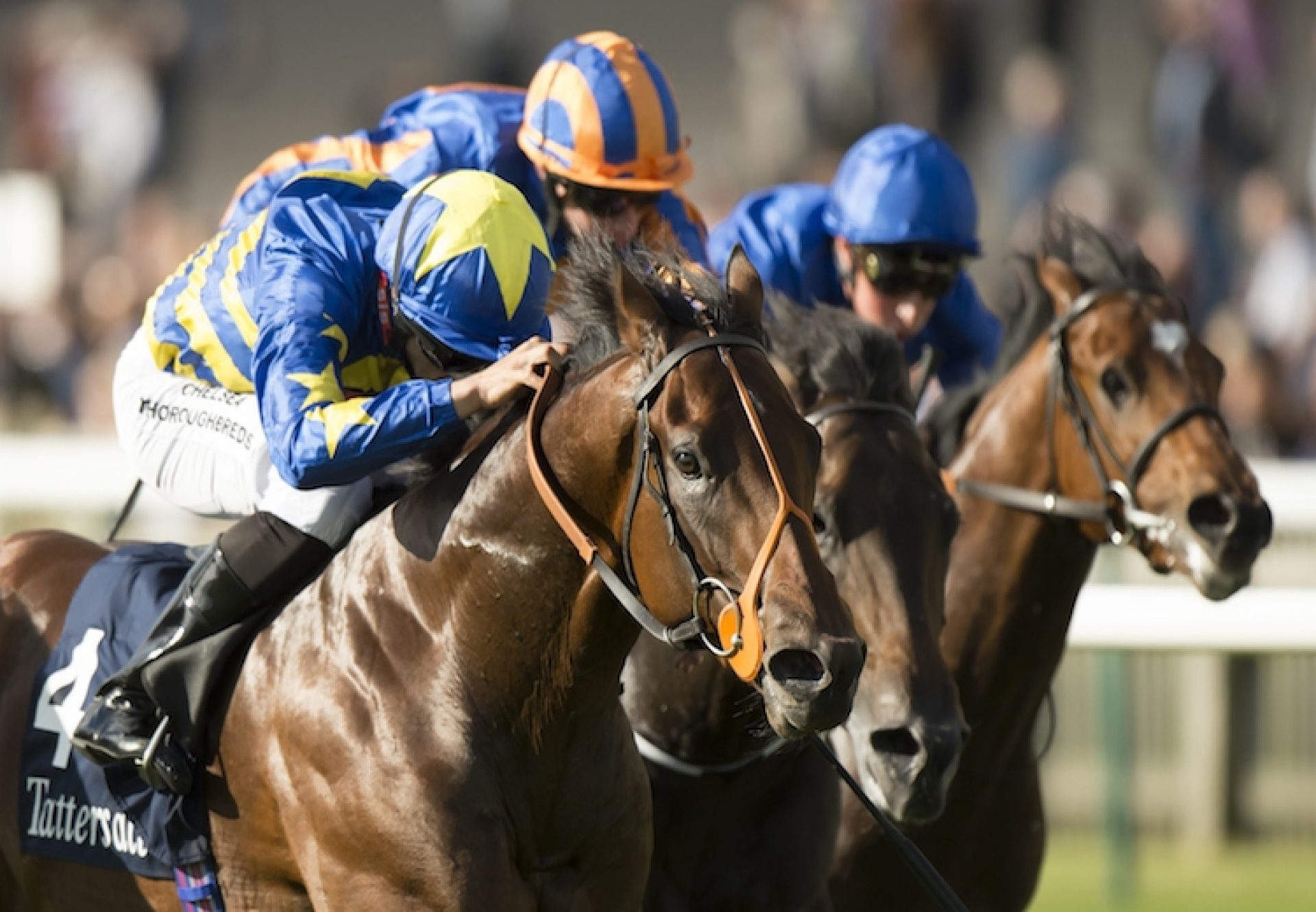 Larchmont Lad (Footstepsinthesand) winning the G3 Tattersalls Stakes at Newmarket