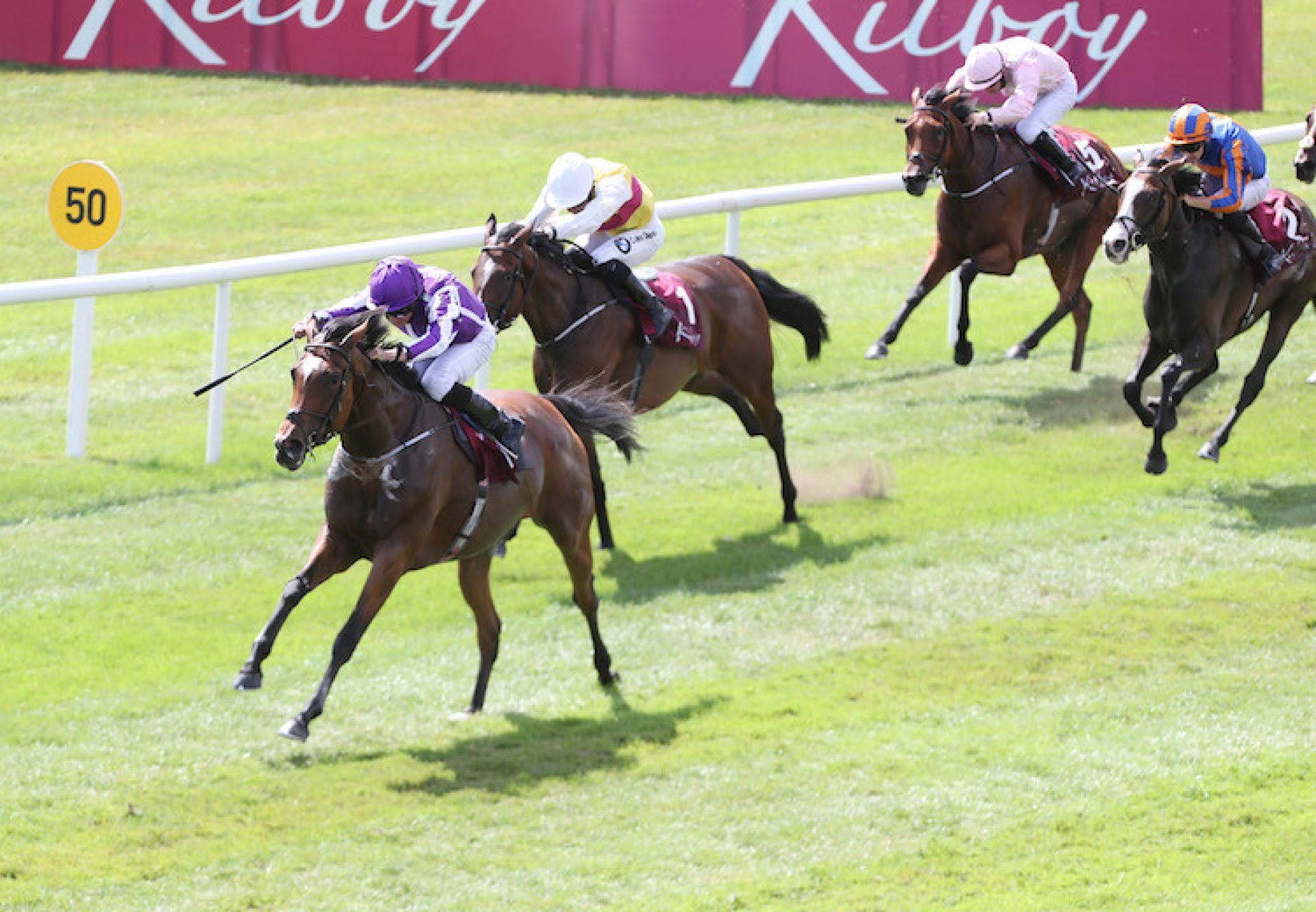 Magical (Galileo) winning the G2 Kilboy Estate Stakes at the Curragh