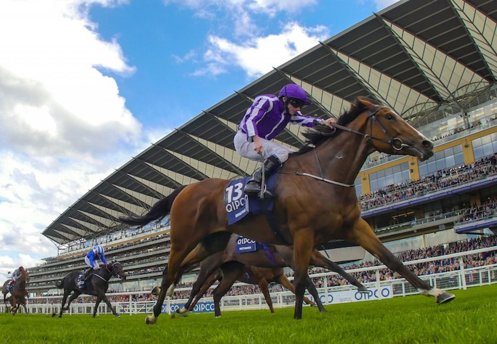 Minding (Galileo) winning the G1 Queen Elizabeth II Stakes at Ascot