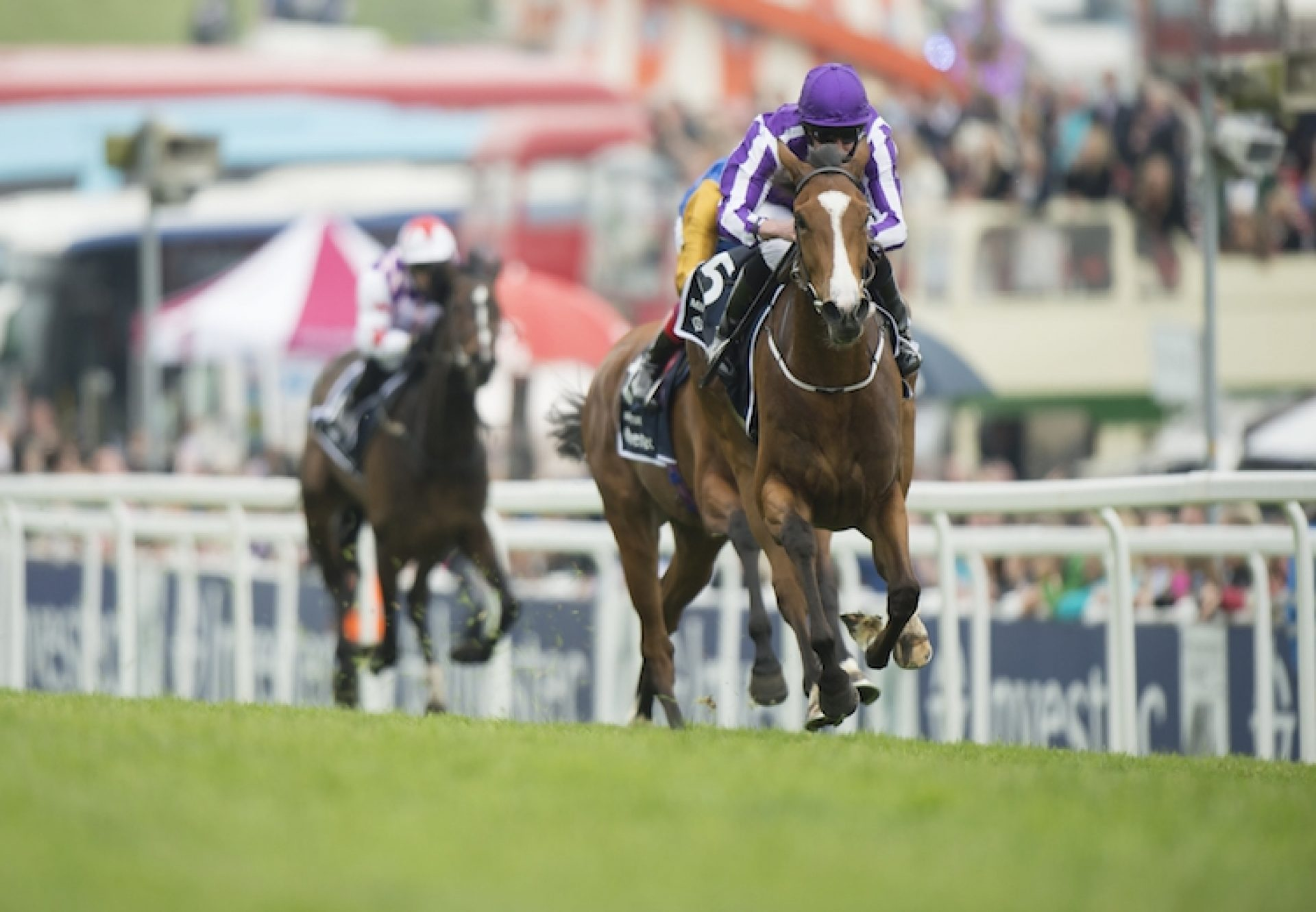 Minding (Galileo) winning the G1 Epsom Oaks at Epsom