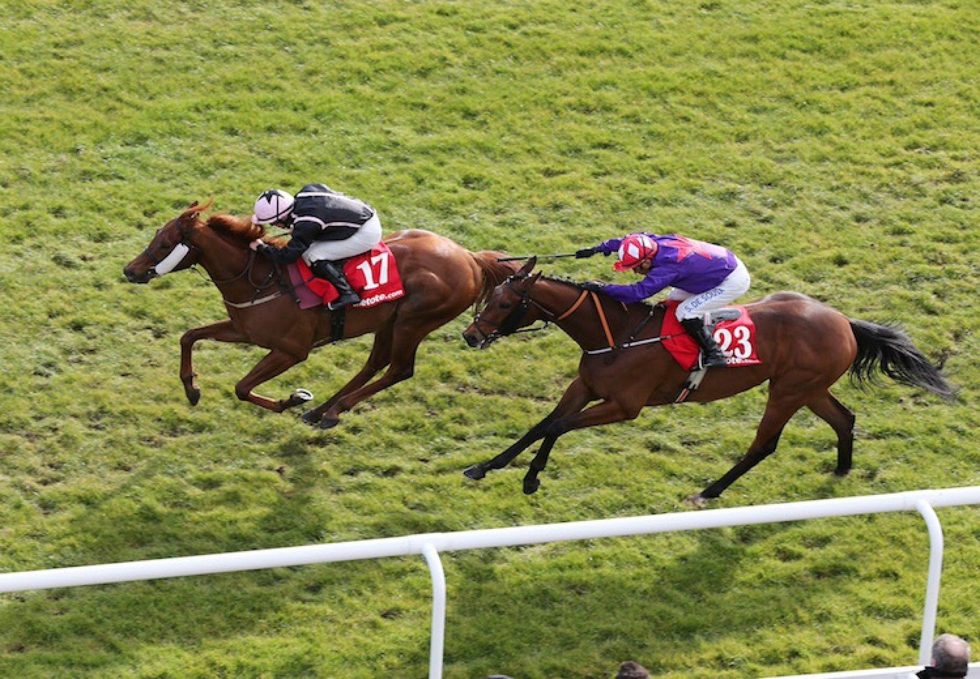 Onenightidreamed (Footstepsinthesand) winning the Irish Lincolnshire at the Curragh