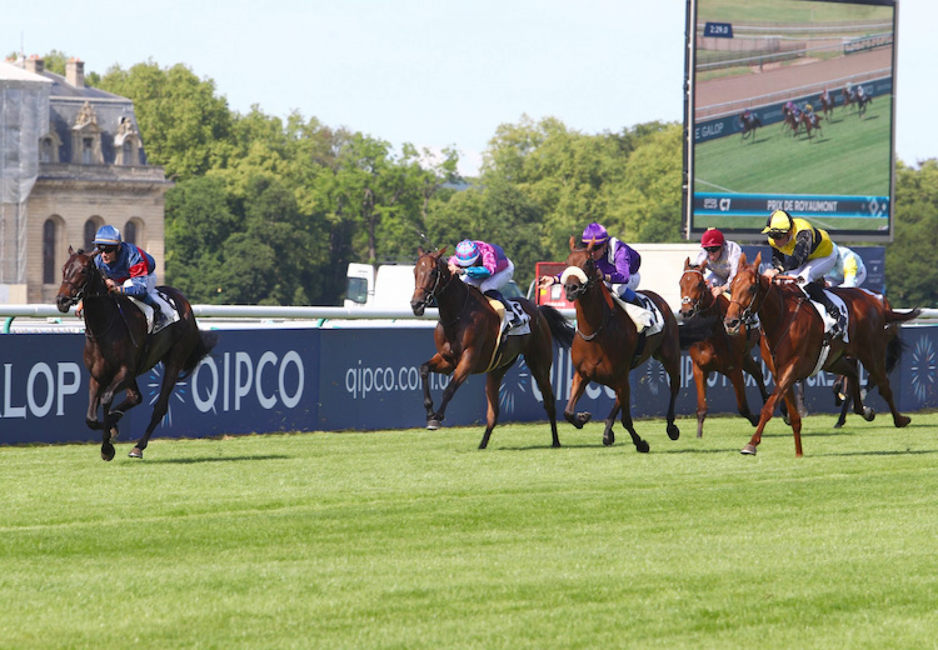 Pollara (Camelot) winning the G3 Prix de Royaumont at Chantilly