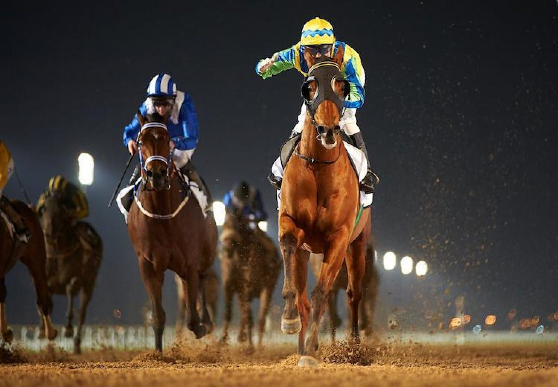 Rich Tapestry (Holy Roman Emperor) winning the G3 Al Shindgha Sprint at Meydan