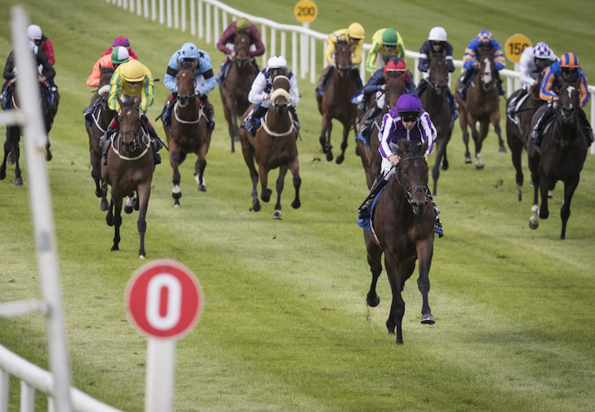 Ten Sovereigns (No Nay Never) winning a maiden at the Curragh