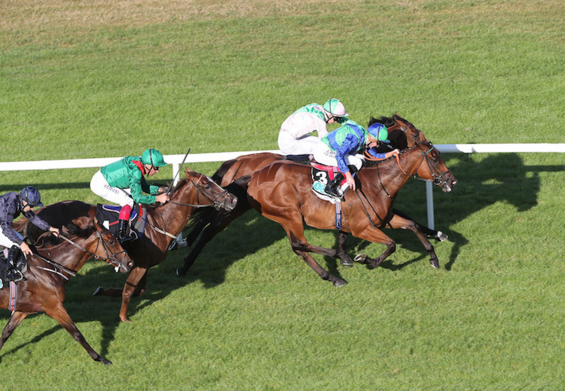 Turret Rocks (Fastnet Rock) winning the G3 Meld Stakes at Leopardstown