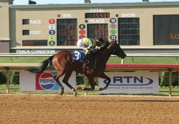 Always inthe Munny (Munnings) wins the Listed Bara Lass at Lone Star Park