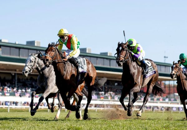 Audarya (Wootton Bassett) Wins The Gr.1 Breeders' Cup Fillies And Mares Turf at Keeneland