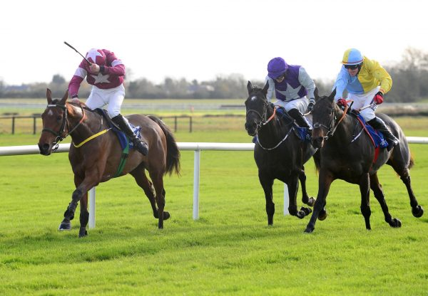 Battle Of Midway (Mahler) winning a novice hurdle at Fairyhouse