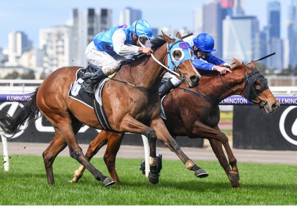 Café Rizu (Rubick) winning at Flemington