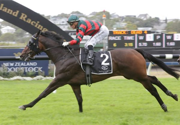 Dragon Leap (Pierro) winning the Gr.2 Avondale Guineas at Ellerslie