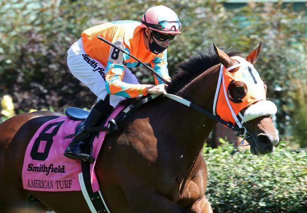 Fancy Liquor (Lookin At Lucky) Wins Gr.2 American Turf Stakes at Churchill Downs