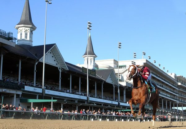 Finite (Munnings) wins the Listed Rags to Riches Stakes at Churchill Downs