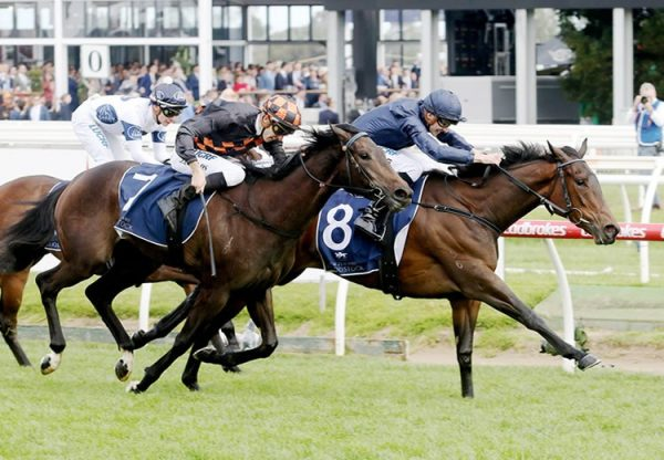 Alice Springs (Galile) winning the G1 Sun Chariot Stakes at Newmarket