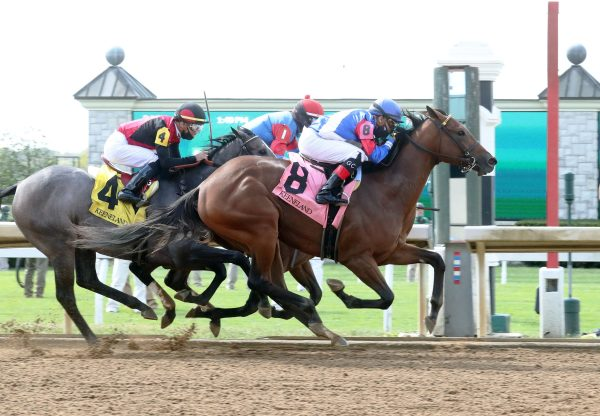 Guana Cay (Air Force Blue) Breaking Maiden At Keeneland