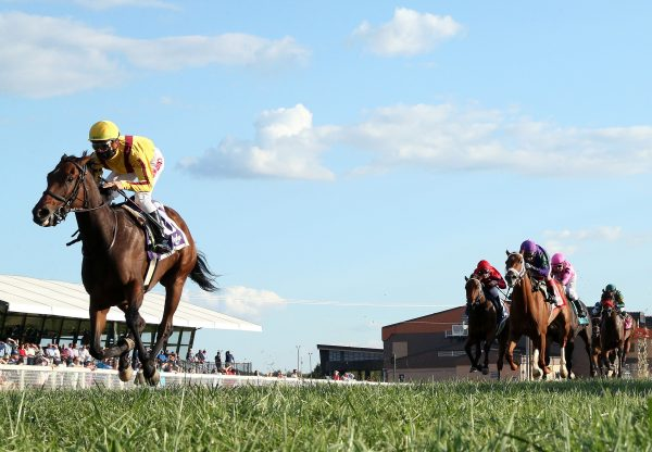 Hendy Woods (Uncle Mo) winning The One Dreamer Stakes at Kentucky Downs
