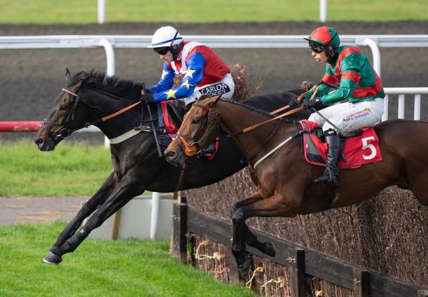 Isolate (Maxios) On Far Side Wins The Novices Handicap Chase At Kempton