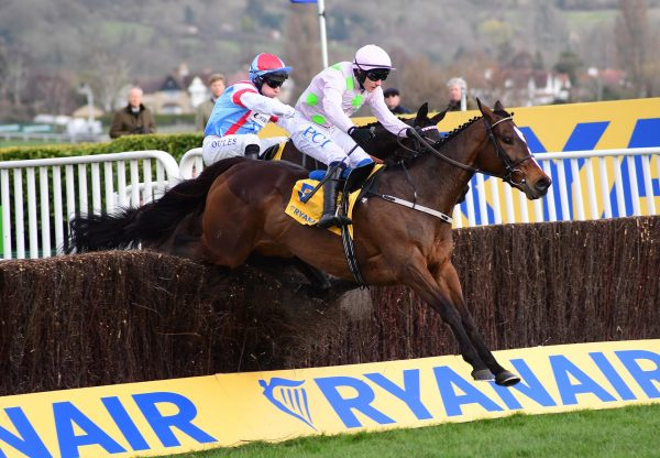 Min (Walk In The Park) winning the Gr.1 Ryanair Chase at Cheltenham