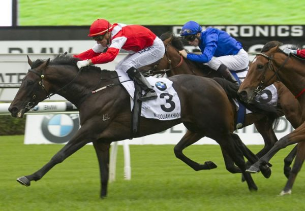 Mongolian Khan (Holy Roman Emperor) winning the G1 Australian Derby