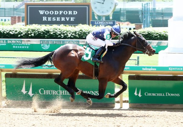 Old Town Road (Classic Empire) winning at Churchill Downs