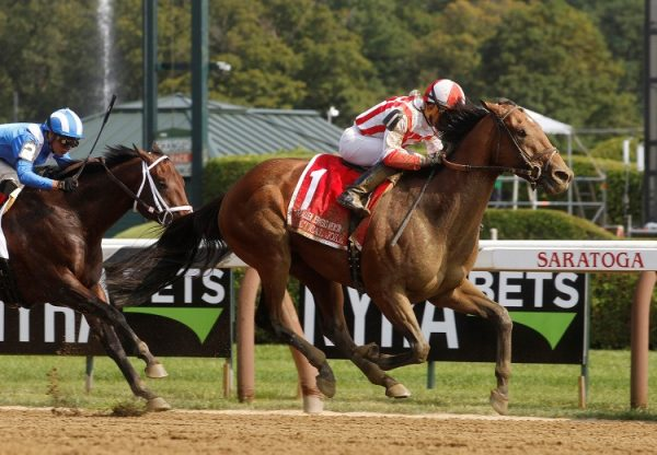 Practical Joke winning the G1 H Allen Jerkens at Saratoga