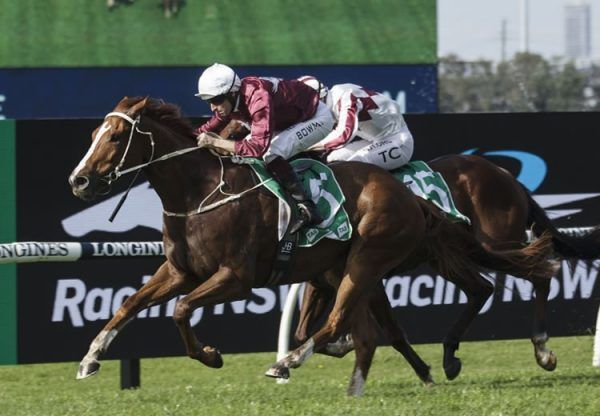 Ready To Humble (Rubick) winning at Rosehill
