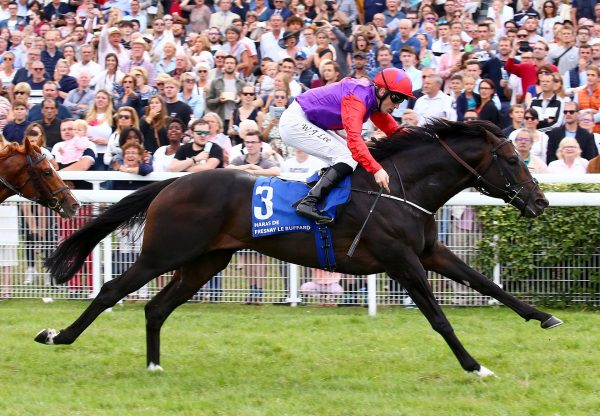 Romanised (Holy Roman Emperor) winning the Gr.1 Prix Jacques le Marois at Deauville