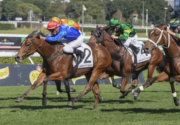 Rubisaki (Rubick) winning the Gr.3 Carr Stakes at Randwick